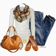 Fall plaid.  Love that scarf!!