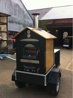 Wood Fired Pizza Oven Catering Trailer Mobile Business #insuranceforfoodtrucks www.insuremyfoodbiz.com