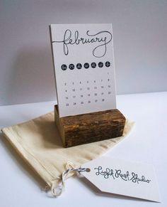 Etsy Desk Calendar