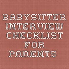 10 interview questions for babysitters when your child has challenging behaviors the challenge to the and babysitter checklist - Babysitter Interview Questions For Babysitters