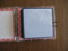 CD case scrapbook. I'm not big on scrapbooking, but I could handle this size and the easiness of this!!  :)