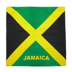 CTM® Cotton Jamaican Flag Bandana