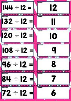 'Quiz Quiz Trade' is a great way to get your students moving and engaged! These cards are a fun way to work on multiplication and division and can be used every day! Choose a times table for the day and you're away.Steps:1.Cut cards with questions and answers back to back.2.Give each student a card.3.Students walk around and high five the closest person.4.They take turns asking and answering the question from their card.5.They swap cards and move to the next person. Teaching Math, Maths, Teaching Resources, Math Games, Math Activities, Kids Math Worksheets, Times Tables, Multiplication And Division, Student Engagement
