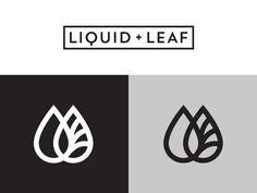 Liquid & Leaf designed by Mike Jones. the global community for designers and creative professionals. Web Design, Design Logo, Branding Design, Packaging Design, Hope Logo, Cosmetic Logo, Tea Logo, Eco Brand, Green House Images