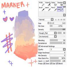 fancymarquis: my new brush u guys were asking. - We Help You Draw Digital Painting Tutorials, Digital Art Tutorial, Painting Tools, Art Tutorials, Digital Paintings, Drawing Techniques, Drawing Tips, Paint Tool Sai Tutorial, Diy Tutorial
