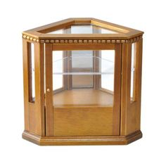 Walnut Corner Display Case