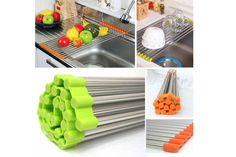 Sink Rack Roll /Stainless Steel Shelf Sink Rack /Portable Folding /Green,Orange Bet it could work great as a cookie cooling rack.keep the crumbs right over the sink! Gadgets And Gizmos, Cool Gadgets, Mens Gadgets, Travel Gadgets, Cheap Gadgets, Amazon Gadgets, Cool Kitchen Gadgets, Kitchen Tools, Kitchen Ideas
