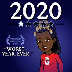 """Shamontiel wrote """"New Year's Eve 2020 is going as expected ~ When the last day of 2020 sums up the ridiculousness of the year"""" #NewYearsEve #NewYear2021 #NYE2020 #NYD2021 #funnystory #humor #storytelling (Photo credit: Bitmoji)"""