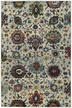 The Oriental Weavers Andorra Floral Area Rug will add a new layer of elegance and beauty to any classic or contemporary space. This intricately woven rug features a multitude of colorful floral designs over a calm and resolute stone background. Floral Area Rugs, Oriental, Woven Rug, Rugs, Rug Runner, Rug Gallery, Traditional Rugs, Oriental Weavers, Rugs Online