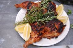 Tuscan Chicken Under a Brick I do this on my traeger pellet smoker at least once a month, everybody loves it. I also just use the juice of 1 lemon instead of the preserved lemons. This makes a great presentation piece for group get together.
