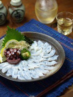 Tako Sashimi -raw octopus sashimi, not boiled one