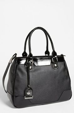 POVERTY FLATS by rian 'Shiny & Matte' Faux Leather Tote, Large available at #Nordstrom