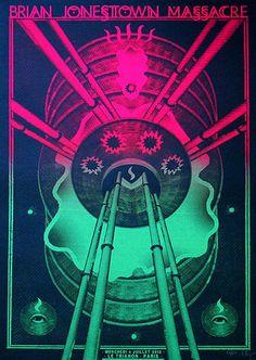 Brian Jonestown Massacre. Poster design: Arrache-toi un oeil! (Paris, 2012).