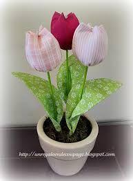 tulipanes en tela - Buscar con Google
