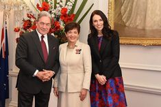 Image of Dame Patsy with PM-designate Jacinda Adern and Green Party leader James Shaw National Assembly For Wales, United Nations Development Program, Moving To New Zealand, Green Party, Bespoke Tailoring, Bridesmaid Dresses, Wedding Dresses, Gay Pride