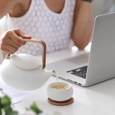 ZENS Teapot with Infuser,Matte Ceramic Japanese Tea Pot for Loose Leaf Tea, 27 Ounces Porcelain Teapots White for Women Gift with Modern Bentwood Handle, Lets Stay Home, Ceramic Teapots, Christmas Gift Guide, Loose Leaf Tea, Tea Time, White Ceramics, Gifts For Women, Tea Pots, Porcelain
