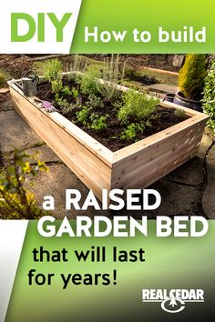 Build your own raised garden bed that will last for years and enhance your outdoor space. Check out the how-to video and free plans! Garden Yard Ideas, Veg Garden, Vegetable Garden Design, Garden Boxes, Lawn And Garden, Garden Projects, Garden Shrubs, Building A Raised Garden, Raised Garden Beds