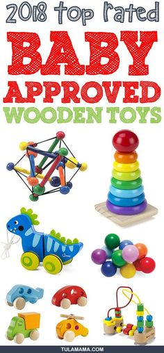 Top Rated Parent and Child Approved Wooden Toys for babies for toddlers and for preschoolers.  These educational toys are suitable for boys and for girls. Pin it. #woodentoys #educationaltoys #toddlertoys #babytoys Wooden Toys For Toddlers, Wooden Baby Toys, Toddler Toys, Kids Toys, Toy Nerf Guns, Kids Fever, Thing 1, Montessori Toys, Montessori Bedroom