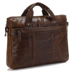 "Handmade Antique Genuine Leather Briefcase Messenger Bag 13"" Macbook 14"" Laptop Bag"