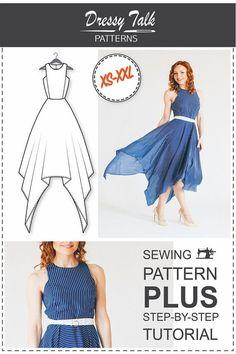 Maxi Dress Pattern PDF Sewing Patterns von DressyTalkPatterns