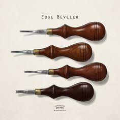 Leather tools / edge beveler / heritage by Huns / www.hunsclub.com
