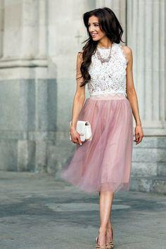 Image result for tulle skirt tea length light green