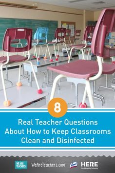 8 Real Teacher Questions About How to Keep Classrooms Clean and Disinfected—For those in in-person or hybrid models, we rounded up real teacher questions about classroom cleaning … and provided answers. We cover everything from why you shouldn't share supplies to how to clean masks. Clean Classroom, Healthy Schools, Real Teacher, Lesson Plans, Masks, Cleaning, Models, Teaching, How To Plan