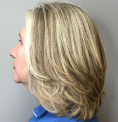 60 Best Hairstyles and Haircuts for Women Over 60 to Suit any Taste : Shoulder Length Hairstyle With Layers