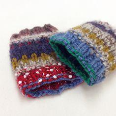 編み込みリストウォーマー|編み物キットオンラインショップ・イトコバコ