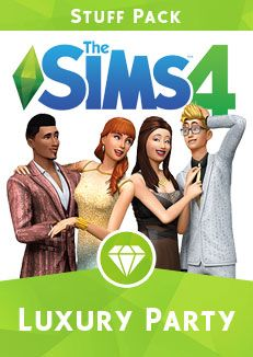 The Sims 4 Luxury Party Stuff Pack boxart