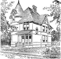 victortian coloring | Houses Coloring Pages Pin by Paty Floyd on adult coloring pages ...