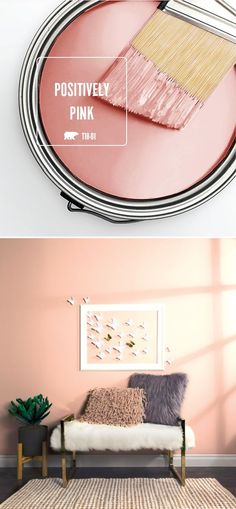 Get in touch with your feminine side with a little help from the light blush hue of Positively Pink by BEHR Paint. This chic shade is a glamorous way to add a subtle pop of color to the interior design of your home. Try using elegant home decor pieces, like gold furniture and faux fur pillows, to recreate this style for yourself.