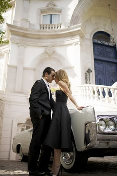 Stylish Los Angeles Engagement Photos and Luxe Vintage Bridal Shower – Monique and Erik