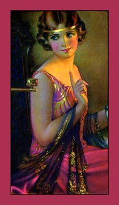 Art Deco Woman with Gold Headband