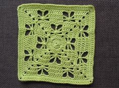 free crochet Butterfly Garden Square pattern on ravelry