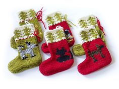 Ravelry: Cat and Dog Holiday Ornaments pattern by Lion Brand Yarn