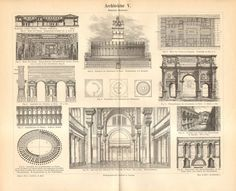 1893 Ancient Roman Architecture Antique by CabinetOfTreasures