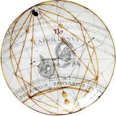 Laboratorio Paravicini Capricornus Dinner Plate ($75) ❤ liked on Polyvore featuring home, kitchen & dining, dinnerware, white, fish dinnerware, colored dinnerware, astrological signs, zodiac signs and fish dinner plates