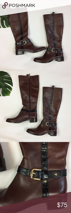 Vince Camuto 🐴 sz 9.5 Nordstrom leather boots Vince Camuto 🐴 sz 9.5 Nordstrom leather riding boots. Excellent used condition Vince Camuto Shoes Winter & Rain Boots
