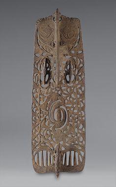 Ceremonial Board (Malu), 19th century, Papua New Guinea, Middle Sepik River, Sawos people, Wood