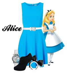 """Alice...Just Alice"" by mikoclay ❤ liked on Polyvore featuring Vero Moda, Disney and Michael Kors"