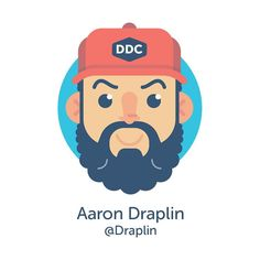 Our featured designer for today is the big man himself! @draplin (: you couldn't find a more influential inspiration kind hearted man than Draplin! Our founder @rockyroark first met him in 2013 at @creativesouthga and he inspired him so much that he was the first to be added to the ordinal Slap! stickers designer line up back when it was just a sticker series depicting designers. Now the big man has been so very kind as to join our Family Roster! If you don't know who he is... Where the hell…