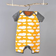 Baby romper sewing pattern download by Brindille and Twig
