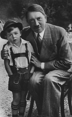 Gerhard Bartels, who was chosen to be the Nazi poster boy aged four (left), has spoken of ...