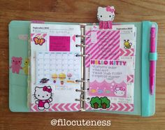 Hello kitty filofax... I really need one!