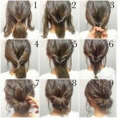 √ Easy Up Hairstyles for Short Hair . 25 Easy Up Hairstyles for Short Hair . Quick Little Girl Hairstyles New Cool Hairstyles for Short Hair Girl Short Hair Styles Easy, Curly Hair Styles, Natural Hair Styles, Bun Styles, Medium Hair Styles For Women Easy, Hair Simple Styles, Hair Styles Steps, Hair Steps, Ponytail Styles