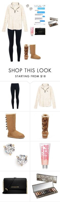 """""""Why do I keep going back ?"""" by jackelinhernandez ❤ liked on Polyvore featuring NIKE, UGG Australia, Kate Spade, Victoria's Secret PINK, MICHAEL Michael Kors and Urban Decay"""