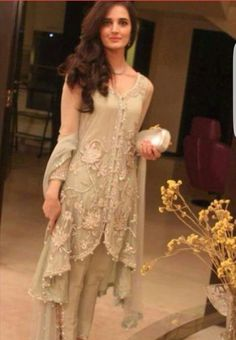 Sizzling fancy dresses with cigarette pants for women latest asian fashion engagement dresses designs collection for wedding brides Pakistani Couture, Pakistani Bridal, Pakistani Outfits, Indian Outfits, Indian Attire, Indian Wear, Engagement Dresses, Desi Clothes, Asian Clothes