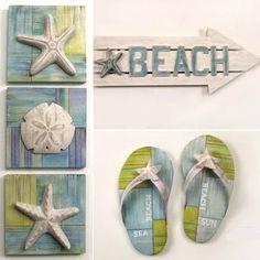 beach themed decor   Decor   Beach Decor   Nautical Decor   Seashell Decor: Beach Decor ...