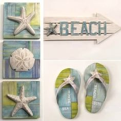 beach decor wall art- ties my blues and green together.